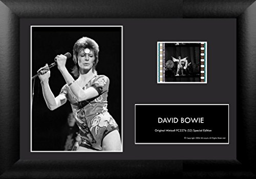 Film Cells David Bowie 35mm Minicell Display w/COA and Easel Stand! by Film Cells