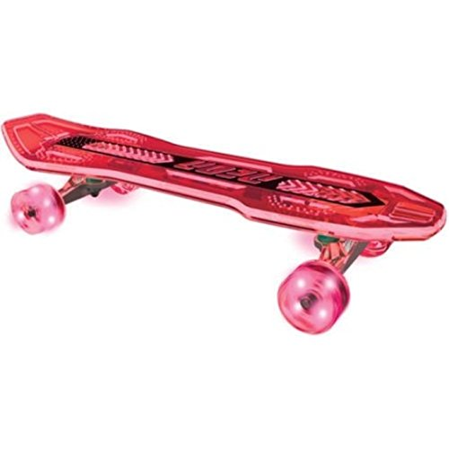Plasma Neon Clock (Durable Long Transparent Deck Ultra-Bright LED Wheels Red Skateboard)