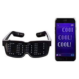 CHEMION – Customizable Bluetooth LED Glasses for Raves, Festivals, Fun, Parties, Sports, Birthday, Costumes, EDM…