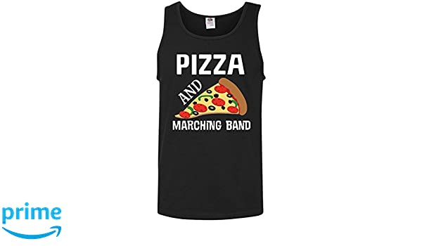 12dd2458 Amazon.com: inktastic - Funny Marching Band and Pizza Gift Men's Tank Top  Medium Black 2c874: Clothing