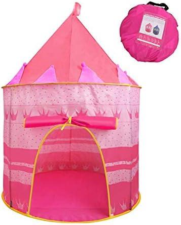 CFPacrobaticS Portatile Pieghevole per Bambini Gioco per Bambini Gioco di Ruolo Tenda Coperta Yurt Castle Playhouse Toy Regalo di Natale Rosa