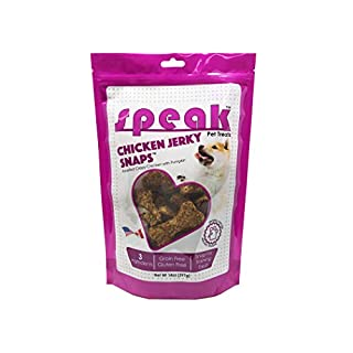 Speak Dog Treats Chicken Jerky Snaps, All Natural and Grain Free Perfect for Training, 14 Ounce Bag
