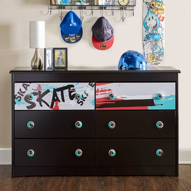 Kickflip Nightstand in Black Finish (Powell Black Stand)