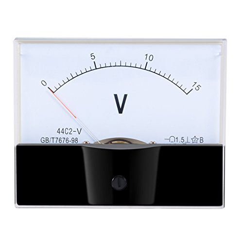 uxcell DC 0-15V Analog Panel Voltage Gauge Volt Meter 44C2 1.5% Error