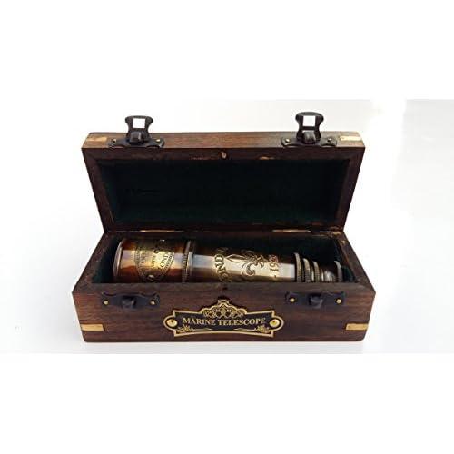 "15/"" Brass Captains Telescope w// Antique Finish ~ Nautical Pirate Spyglass"