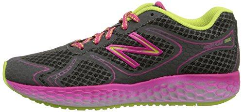 888098070194 - New Balance KJ980 Fresh Foam Running Shoe (Little Kid/Big Kid), Grey/Pink, 4 M US Big Kid carousel main 4