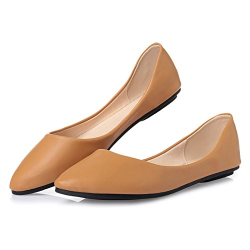 Shoes Toe Pointed Flat Cute Camel Ballet 62 Maiernisi Comfort Women's jessi Casual EtwqXzO