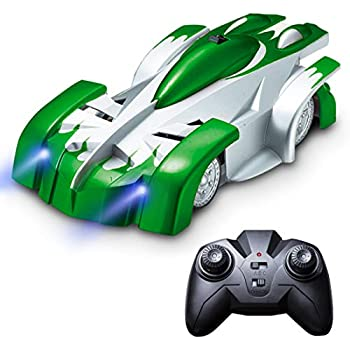 Wall Climber Remote Control Car - Gravity Defying RC Cars for Adults, Kids, Boys or Girls, Wall Climbing Car Toys w/USB Fast RC Car Charger (Green)