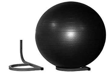 Wall Mount Storage Rack For Inflated Exercise Balls, Holds 1