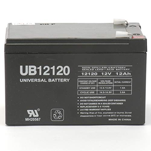 Universal Power Group 12V 12Ah F2 Electric Scooter Battery Replaces TEMPEST ()