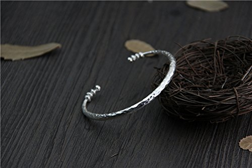 Handmade Sterling Silver Hammered Bangle,Handmade Sterling Silver Hammered Bracelet
