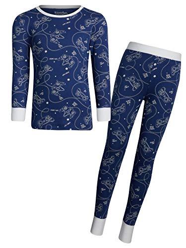 (Kitestrings Boys 2-Piece Cozy Snug Fit Pajama Set, Navy, Size 7')