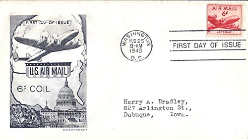 - First Day Cover 1949 Air Mail 6 Cents US #C37
