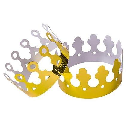 Gold Foil King Crowns Paper Dozen