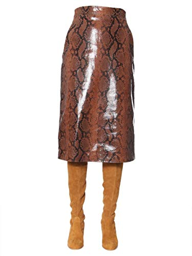 DSQUARED2 Women's S75ma0675sy1404002f Brown Leather Skirt