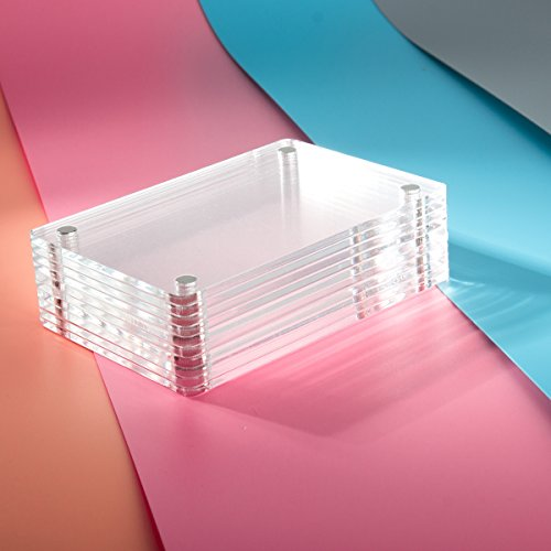 Caiul Compatible Clear Acrylic Fridge Magnetic Frame