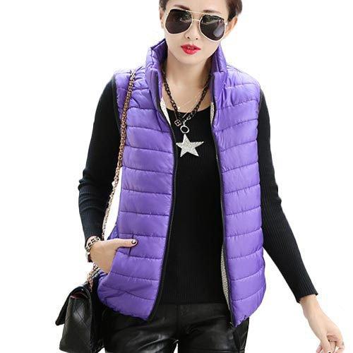 閉塞キリンモニター秋冬中綿入りノースリーブベスト_purple_XL(着丈60cm、胸98cm)