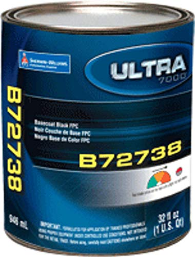 Auto Paint Pro Sherwin Williams Ultra B72738 Factory Packaged QT BaseCoat True Black
