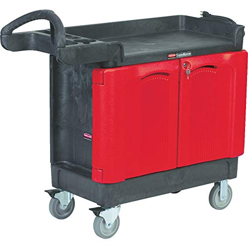 - Rubbermaid Commercial TradeMaster 2-Door Cabinet Utility Cart, Large, FG453288BLA