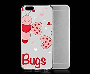 Light weight with strong PC plastic case for iphone 6 plusd 5.5 Art Love Love Bugs
