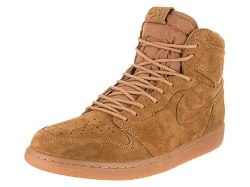 Jordan Nike Men's Air 1 Retro High OG Golden/Harvest/Golden/Harvest Basketball Shoe 9.5 Men US
