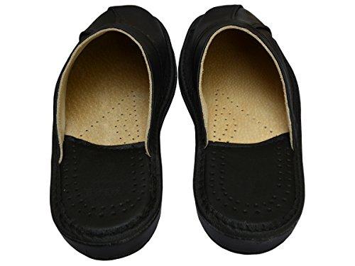 BeComfy Chaussures en Cuir Pour Homme Chaussons Mules Noir Boîte à Cadeau en Option Modèle MI09 (41+Box)
