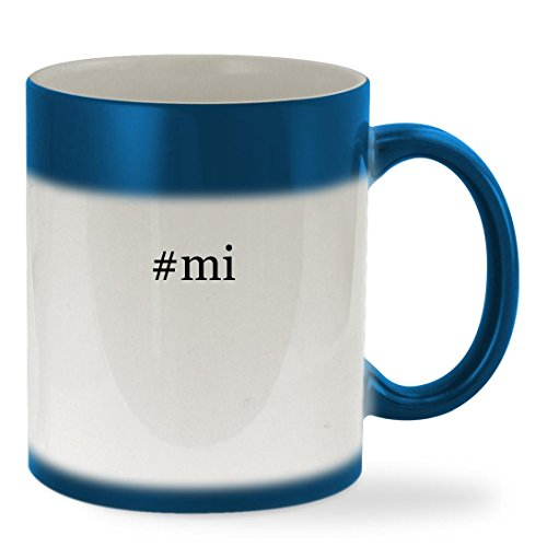 Price comparison product image #mi - 11oz Hashtag Color Changing Sturdy Ceramic Coffee Cup Mug, Blue
