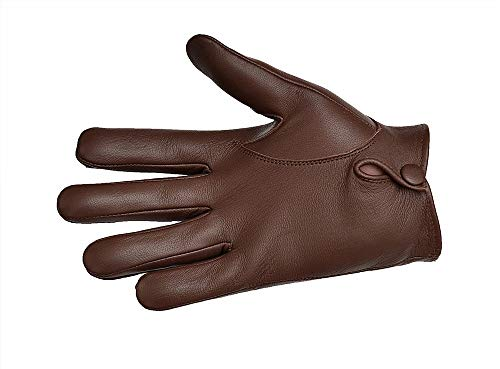 fe1a575f3998c Men's Dress Leather Gloves (Small, Dark Brown) available in Kuwait ...