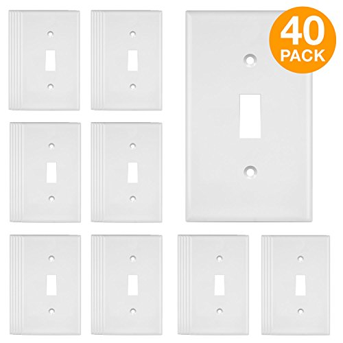 ENERLITES Toggle Light Switch Wall Plate, Standard Size 1-Ga