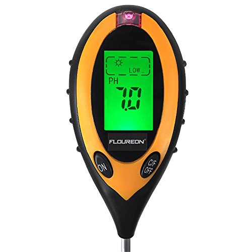Nynoi home garden tools moisture sensors Soil PH Meter 4 In 1 Digital LCD Display PH Moisture Sunlight Soil Meter Sunlight/Moisture/PH value/Temperature Instrument For Plants