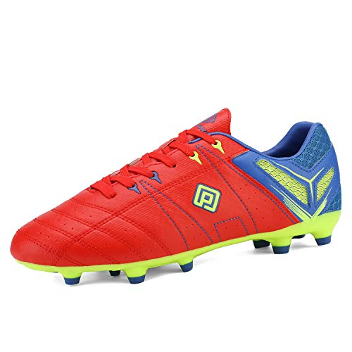 DREAM PAIRS Men's 160471-M Red Royal L.Green Cleats Football Soccer Shoes - 7 M US