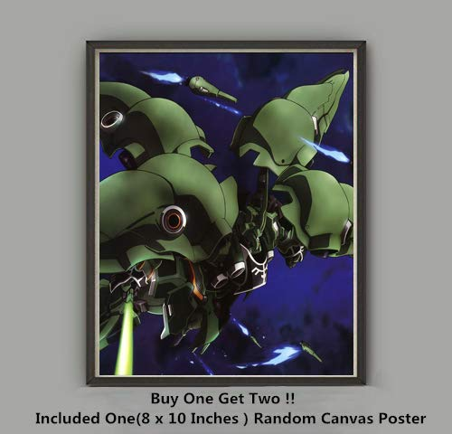 QG Art NZ-666 Mobile Suit Kshatriya Galaxy Warrior Japanese Anime Canvas Poster,Not Included ()