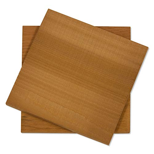Fire & Flavor Natural Red Cedar Medium Grilling Planks, 5.5 x 5.5, Bulk Size 48 Count by Fire & Flavor