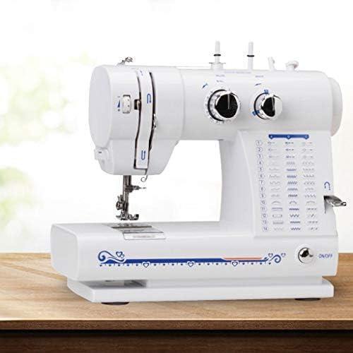 AILI Máquinas de Coser Máquinas de Coser 42 Ojal de Bloqueo de Puntada Pequeña máquina de Coser eléctrica de plástico Ropa Manualidades y máquinas de Coser de Viaje a casa Blanco Máquinas