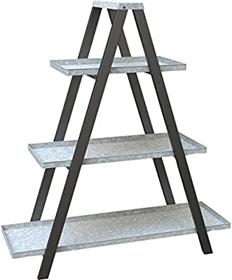DPD Escalera Vintage con Marco en Forma de A con estantes galvanizados – Decoración al Aire Libre: Amazon.es: Deportes y aire libre