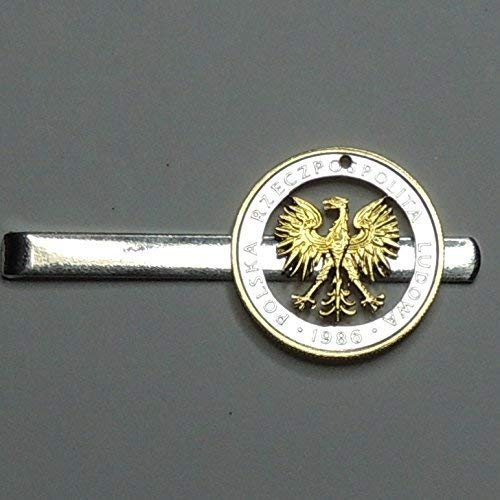 J/&J Coin Jewelry Gorgeous Gold on Silver Irish Rabbit Tie Clasp//Clip//Made in USA