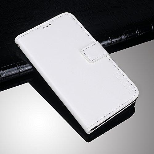 Huawei Mate 10 Funda Faux Cuero Billetera Funda para Huawei Mate 10 con Stand Función(Marrón) Blanco