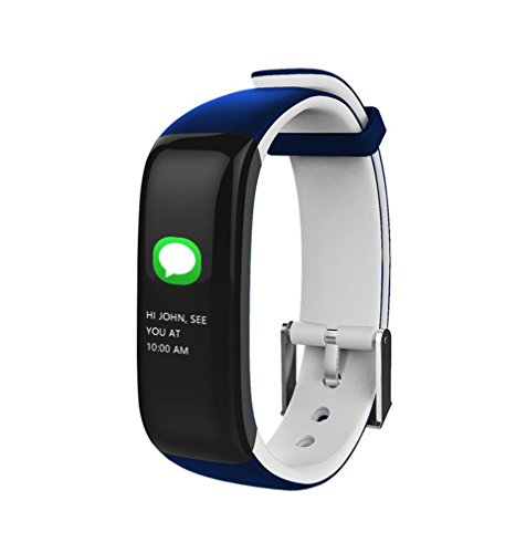 Yeefant Bluetooth Wristband Blood Pressure Watch Oxygen Heart Rate Sleep Monitor Smart Watch,8.3x0.7x0.4 Inch,Adjustable Length 4.7-7.9 Inch, Life Time 10 Days and Standby 25 Days, White