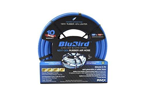 BluBird Lightest, Strongest, Most Flexible Rubber Air Hose (1/4