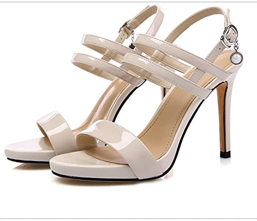 Palabra Piel Fina nbsp; Zapatos impermeable hebilla Guantes piel Sandalias Super PqSI1U