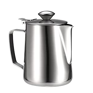 Anself Stainless Steel Milk Frothing Pitcher Coffee Foam Container Milk Cup Espresso Measuring Cups
