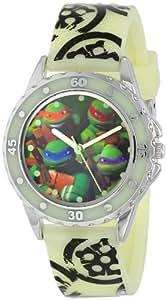 Nickelodeon Teenage Mutant Ninja Turtles Kids' TMN9028 Analog Display Glow-in-the-Dark Watch