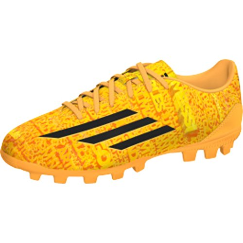 adidas Bota Jr F10 TRX AG Messi Solar gold-Negra Orange/Black