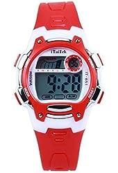 Hiwatch TM Waterproof 30M Cold-Light Easy Reader Time Teacher Lcd Digital Sports watch for Children Girls Boys