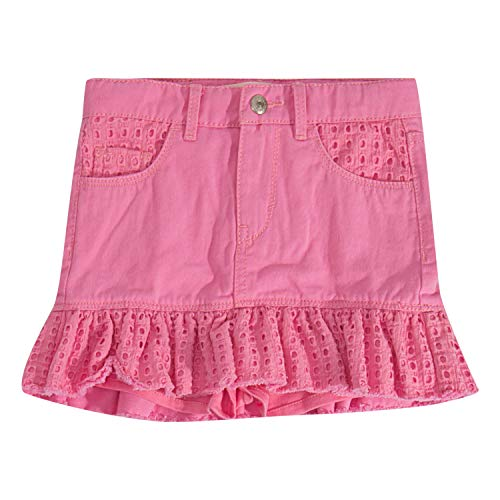 Levi's Girls' Toddler Denim Scooter Skirt, Sachet Pink, 4T