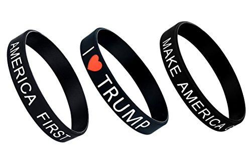 America Pack - Bracelet - Unisize / unisex and allergy free - Make America Great Again - US President Donald Trump Black Cosmos Limited Edition