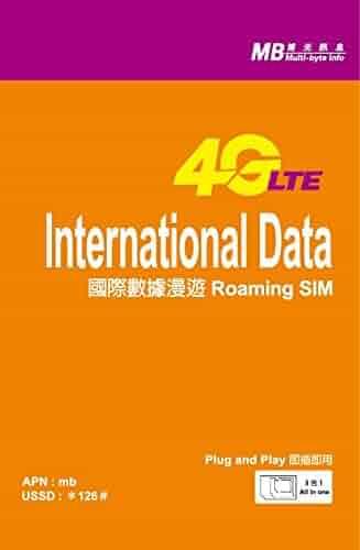4G LTE International Data Package SIM card (500 MB / 0.5 GB / 15 Days)
