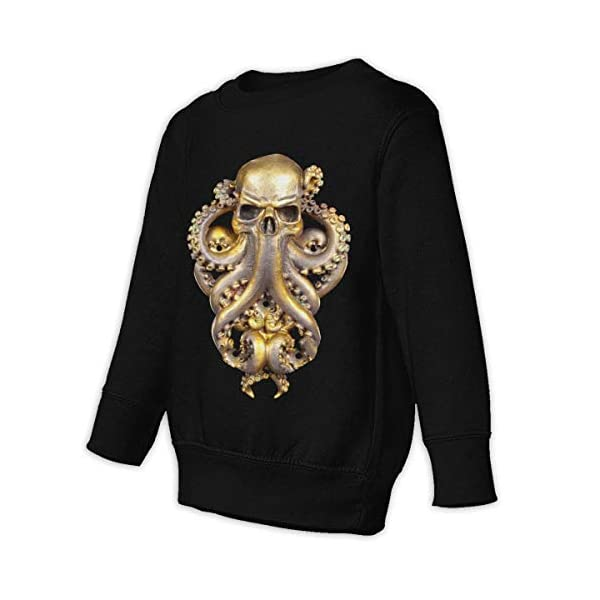 COTDREN Steampunk Octopus Boys' Youth Cotton Long Sleeve Crew Sweatshirt 3