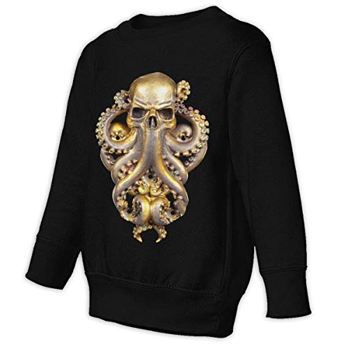 COTDREN Steampunk Octopus Boys' Youth Cotton Long Sleeve Crew Sweatshirt