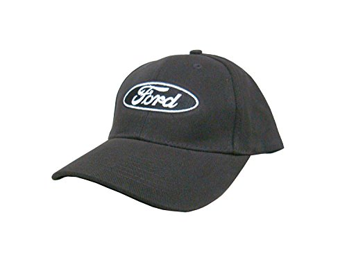 (Ford Oval Hat: Black - Mustang F-Series GT Boss Torino Galaxie Fairlane Cobra Hot Rod Truck)